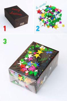 funfetti gift wrapper diy