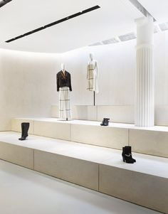 3.1 Phillip Lim New York flagship store by Campaign - poured-concrete floor and grey limestone
