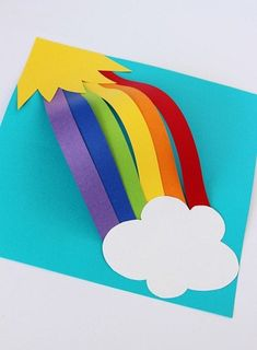 9 Easy Rainbow Crafts For Kids And Toddlers - Kita Projektideen - March Crafts, St Patrick's Day Crafts, Daycare Crafts, Sunday School Crafts, Toddler Crafts, Arts And Crafts, St Patricks Day Crafts For Kids, Summer Crafts For Kids, Spring Crafts