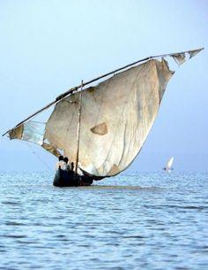 Sailboat on Lake Victoria