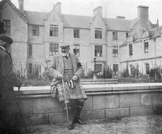 Photo of Edward VII at Balmoral, Scotland, taken by his wife Queen Alexandra (1844-1925). Printed in Queen Alexandra's Christmas Gift Book, published by the Daily Telegraph, London, 1908.