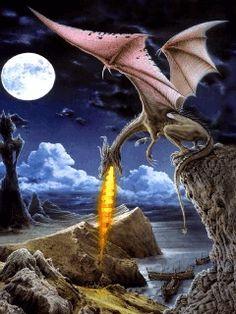 Fondos animados con dragones.