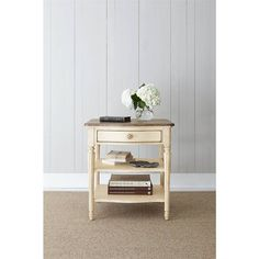 European Cottage - Lamp Table in Vintage White - 007-25-10 - end table - living room - Stanley Furniture