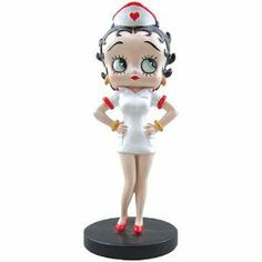 """Betty Boop Nurse Betty Mini Figurine by Westland Giftware. $5.99. Approx 3.5"""" Tall. Released in Spring 2013. A cute Betty!"""