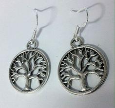 Fashion drop earrings 925 sterling hook tree of life bobin boutique jewellery