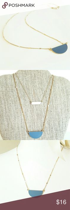 Selling this Half Blue Moon Necklace in my Poshmark closet! My username is: justmarshmellow. #shopmycloset #poshmark #fashion #shopping #style #forsale #Jewelry