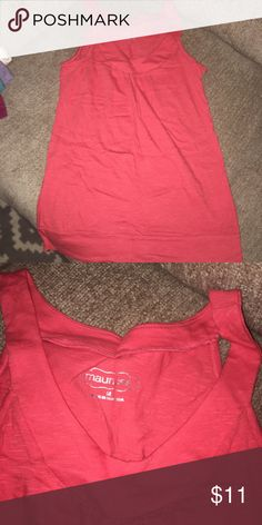 Maurices top Maurice's top coral color really cute just never wear it Maurices Tops Tank Tops