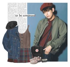 """Taehyung: to be continued"" by yxing ❤ liked on Polyvore featuring Fjällräven, Wrangler, Betmar, NIKE, Kodak, YES, Tag, kpop, bts and taehyung"