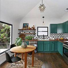 Kitchen Backsplash Ideas Kitchen With Teal Cabinets