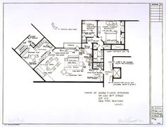 The floor plan of The Jeffersons' deluxe apartment in the sky