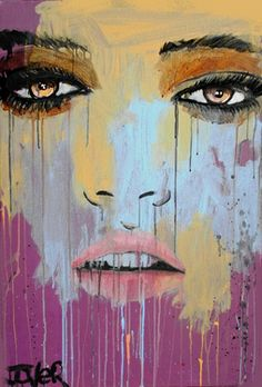 "Saatchi Online Artist Loui Jover; Painting, ""euphrosyne (canvas)"" #art"