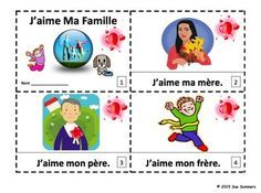 French Family J'aime Ma Famille 2 Emergent Reader Booklets by Sue Summers - One with text and images, one with text only so students can sketch and create their own versions of the booklets.