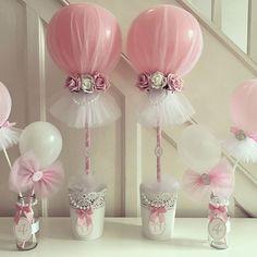 #tulleballoons #prettypink #birthdayballoons #4thbirthday #flowers #pearls #tullecute #tullecuteballoons