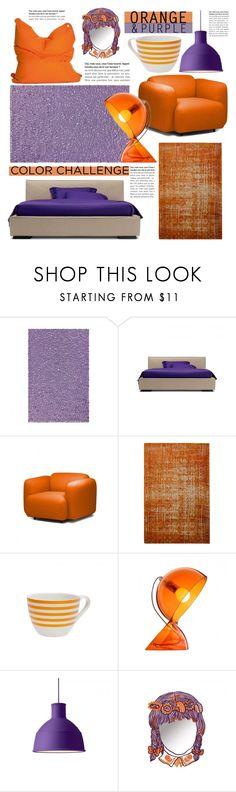 """Color Challenge: Orange & Purple"" by lovethesign-eu ❤ liked on Polyvore featuring interior, interiors, interior design, home, home decor, interior decorating, Normann Copenhagen, Sitting Bull, colorchallenge and orangeandpurple"