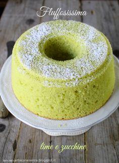 Le mie ricette con e senza: Fluffosissima marziana, ovvero chiffon cake lime e...