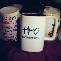 Faith•Hope•Love || DIY Sharpie Mug
