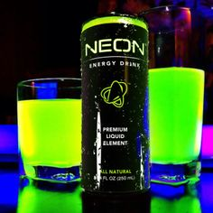 BLACK LIGHT Reactive! Turn out the lights, turn on a UV/Black light and watch it turn bright NEON! Can is UV reactive as well!  www.facebook.com/NeonEnergyElement www.pinterest.com/NeonElement