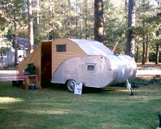 CAMPING FUN - STRANGE TEARDROP CAMPERS - WITH FULL TENT EXTENSION