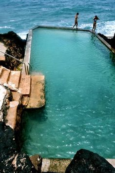 Black Point saltwater pool on Oahu...filled only by the waves.