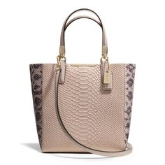 The Madison Mini North/south Bonded Tote In Python Embossed Leather from Coach--I really don't do COACH but I can do this! #goodjobcoach #reedismakingchanges #changeisgood
