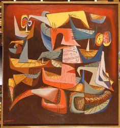 El vuelo diurno del Pájaro Pi, 1952  Eugenio Granell.