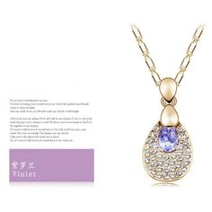 New Popular Water Droplets Crystal Necklace China jewelry Cheap Necklace Fashion Jewelry Wholesale