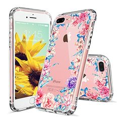 iPhone 7 Plus Case, iPhone 8 Plus Cases for Girls, MOSNOVO Floral Garden Flower Printed Clear Design Plastic Hard Case with TPU Bumper Protective Cover for iPhone 7 Plus / iPhone 8 Plus Pretty Iphone 7 Cases, Iphone 7 Cover Case, Diy Phone Case, Cute Phone Cases, Iphone 7 Plus Cases, Iphone Phone Cases, Iphone Se, Apple Iphone, Cool Cases