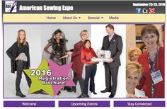 The largest independent sewing expo in the US! American Sewing Expo September 21-25, 2016 Novi, MI