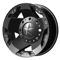 "XD-Series 775 Rockstar Dually Matte Black Rear Wheel (17x6""/8x6.5"")   $ 185.26 #TireWheelCare             $  185.26"