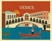 Venice, Italy Skyline Vertical Destination Print - Travel Wall Art - for Home, Office, and Nursery - style E8-O-VEN