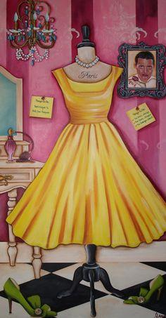 The Dress..Vintage, The Shoes...Designer..The Revenge...Sweet!