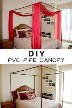 Hereu0027s how I made my DIY full bed canopy out of PVC pipes! & This canopy frame is made with PVC pipe and is the cheapest way to ...