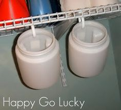 canisters and shower hooks