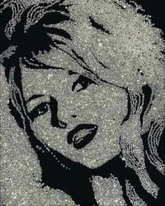 Vik Muniz - Brigitte Bardot (From the Diamond Series) | From a unique collection of prints and multiples at http://www.1stdibs.com/art/prints-works-on-paper/
