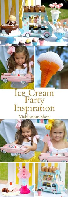Ice cream Party Ideas for the sweetest party!!! for more go to the http://blog.viablossom.com