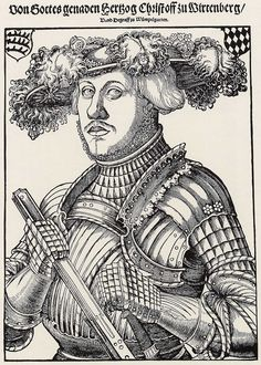 Artist: Brosamer, Hans, Title: Porträt des Herzogs Christoph von Württemberg und Teck [1], Date: 1550