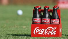 Coca-Cola tee markers at The Tour Championship in Atlanta.