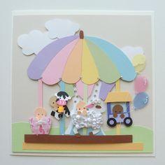 ROC Paper Scissors: Handcrafted Baby Card, Carousel #MarthaStewartAmericanMade #Baby