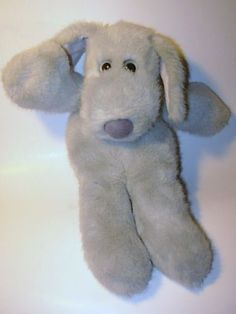 1980 Francesca Hoerlein Gray Le Mutt LeMutt Plush Stuffed Animal Dog Dakin