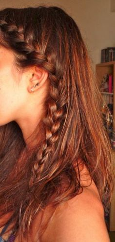 French Braided on Side - Hairstyles and Beauty Tips