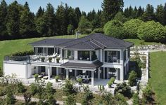 WeberHaus - Luxury villa with panoramic views - WeberHaus – Luxury villa with panoramic views WeberHaus – Luxury villa with panoramic views Web - Classical Architecture, Sustainable Architecture, Architecture Design, Prefabricated Houses, Prefab Homes, Dream Home Design, Modern House Design, Dream House Exterior, House Goals