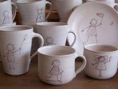 Franziska M. Köllner - Kinder-Kollektion Shops, Objects, Clay, Ceramics, Mugs, Tableware, Interior, Christmas, Leipzig