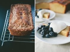 Cornmeal cake with blueberries and maple whipped cream - Not Without ...