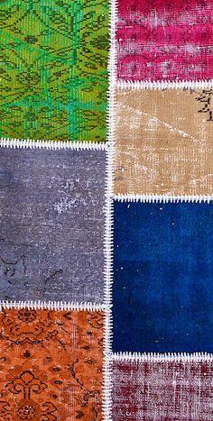 Vintage Patchwork Teppich - mozaiik Unikat Nr. 133TP Carpets, Kids Rugs, Design, Home Decor, Scrappy Quilts, Vibrant Colors, Vintage Rugs, Handarbeit, Farmhouse Rugs