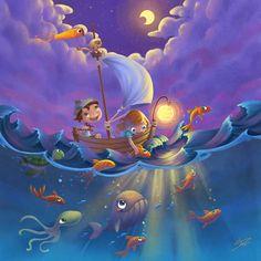 Sailing at Midnight
