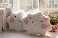 New Smile Cloud pillow cushions for baby kids couple sofa cushions/pillows Comfortable office nap pillow 36*25CM Free Shipping