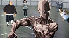 One Punch Man - Saitama Fitness Test Scene HD