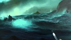 HOW TO PAINT THE OCEAN AND WAVES  STORMY COVE PART 4 BY ALAN KINGWELL