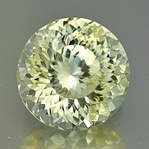 """Yellow Sapphire """"Portuguese"""" Cut Round, beautiful faceting"""