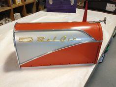 Burnt Orange Vintage Belair Mailbox by BarberGraphix on Etsy, $125.00